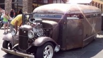 Ancient 1932 Model Prison Bus Transformed Into a Badass Rat Rod