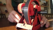 The Fruit of a Brilliant Mind: 3D Printed Automatic Transmission Model with Three Gears Works Literally Perfectly