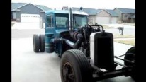 Extremely Cool Rat Rod Peterbilt Performs One of the Sickest Rides Ever!