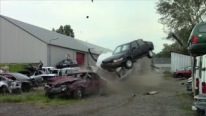 Extremest Crash Test Ever: Badass Volvo 850 Slaughters Tens of Cars Just in Seconds