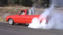 T-50 Turbine Engine Powered 1968 Model GMC Truck Makes Insane Burnouts