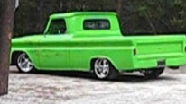 Eye-Pleasing 1965 Model Chevrolet Pickup Truck is Clean and Lime Green
