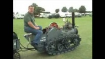 The Most Awesome Tractor Ever: Small Scaled Hornsby Steam Tracked Tractor Drives Perfectly