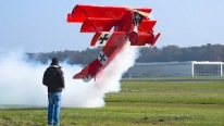 Beauty Comes in XXXXL: World's Biggest R/C Fokker Dr.I Plane Flies Super Effectively