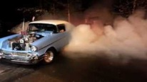 Monstrous Supercharged Big Block Powered 1957 Chevrolet Bel Air Makes Some Crazy Burnouts!