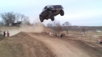 I Believe I can Fly, I Believe I Can Touch the Sky: Badass Ford Raptor Jumps 90 Feet Up in the Air