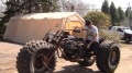 Amazing Monster Trike with Gigantic Tires Drivers Perfectly at its Test Drive