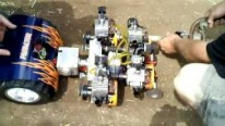 Perfectly Built R/C Model Vehicle Pulling a Big Trailer Gives Guys a Barrel of Fun