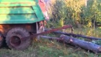 Russians' Majestic Ingenuity At Its Finest: Brilliant Way to Load Logs in Trucks- Must See!!!