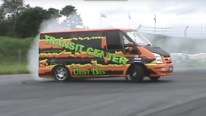 Two in One: Drift Bus and Super Van in One Perfect Ford Transit V8