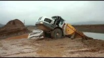 Incredible Rescue Footage: Liebherr Dumper Stuck in the Mud So Badly-Must See!!!