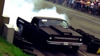 Let's Get Some Finnish Style Fun: Super Powerful 14,2 Liter V8 Powered Pickup Does Sick Burnouts