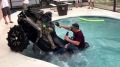 Having Fun Has Never Been That Ridiculous: Driving a Monstrous Can-am XMR 1000 Right Into Swimming Pool