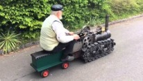 German Grandpa Starts Up and Drives His Amazingly Built Creation-Must See!!!