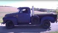 353 Detroit Diesel Powered 1951 Chevy Pickup Drives on the Road So Smoothly