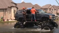 The Rescuing Angels with Mega Trucks Embrace the Mission of Saving the Flood Victims