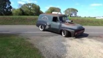 """FREAKIN' AWESOME"" 392 HEMI CHRYSLER Powered 53 FORD PANEL Truck"