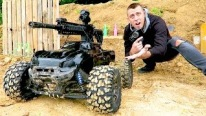Roman Atwood and His Cute Little Son Build the Craziest R/C Truck Ever-Must See!!!