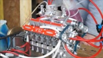 The Very First Start of Methanol Powered 163cc V12 Engine That Drinks up the Fuel