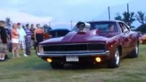 1968 Blown Pro Street Hemi Charger Performs an Insanely Nasty Ride
