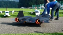 "Self-Built R/C Version of Lockheed SR-71 ""Blackbird"" of United States Air Force"