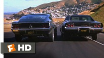 Super Exciting Movie Scene: 1968 Ford Mustang Vs 1968 Dodge Charger