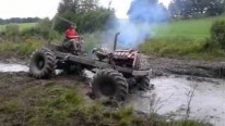 Having Some Crazy Fun with Tractors in Salmanovice, Czech Republic