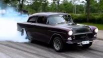 1955 Chevrolet Does Some Nasty Smoky Burnouts