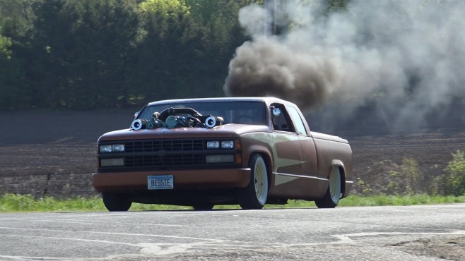 Chopped and Bagged 1989 Chevrolet Pickup with 453 Detroit ...