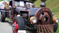 Breathtaking Rat Rod Looks and Sounds Just Like a Train!