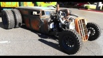 The Train Car: Dually Rat Rod That Looks Like a Train is Uniquely Cool