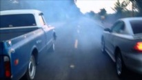 Awful Footage: Mustang Crashes Chevrolet Pickup While Racing