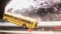 School Bus Performs the Coolest Wheelie Ever!