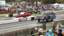 Exciting Drag Race with Striking Conclusion: Old Farm Truck Vs Cool Fox Body Mustang