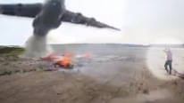 Huge Water Plane is Used to Put Out Tiny Campfire in Russia