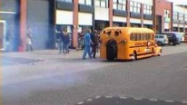 American School Bus Powered with Jet Engine is the Dream of Every Student
