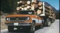 Vintage Commercial Shows Chevy Cheyenne Hauling 187-Ton Log Trailer