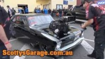 Sick Looking Frank Mamone's Blown Chevy Nova with 10.5 Tyres