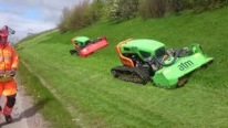 Green Climber NA's Perfectly Functional Remote-Control Bank Mowers