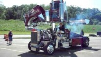 Big Rig Bounty Hunters Playful 18-Wheeler at Eau Claire Truck Show