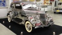 Very Rare 1936 Ford Stainless Steel Tudor Deluxe Touring Sedan Model 68-700 Shines Like Mirror!