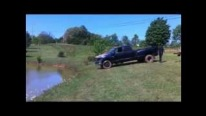 Unbelievable Fail Footage: Pickup Falls into Water Twice!