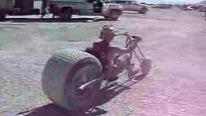 Cool Guy Rides Mutant Big Wheel Bike Like a Pro!
