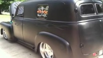 1950 GMC Panel Truck in Matte Black Paint Fascinated with Its Charisma