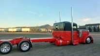 Lowered and Professionally Painted Peterbilt Truck is a Masterpiece!