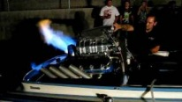 Blown Injected 1200HP Engine Powered Chevy Shoots Fire Like the Dragons of Khaleesi!
