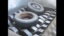 Metal Shredder Devours Automobile Tires Like Wild Beast