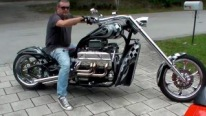 425HP 5.7L Edelbrock Powered V8 Choppers Corvette Motorcycles to Feast Your Eyes and Ears