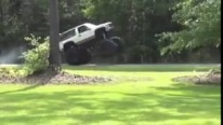 Insane Lifted Chevrolet Monster Truck Performs Cool Wheelie!