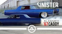 Perfectly Slammed 1967 Sinister Cadillac Performs Some Insane Burnouts and Slides
